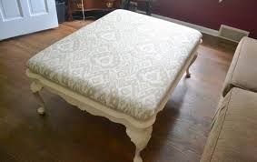 How To Make An Upholstered Ottoman by Upholstered Coffee Table Turn Into Tufted Ottoman Diy Fabric From
