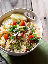 vegan lemon basil orzo pasta salad recipe my california roots