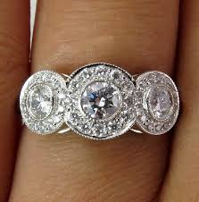 tiffany stone rings images Tiffany co authentic circlet round diamond engagement wedding 3 jpeg