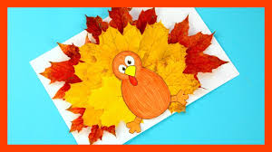trukey leaf craft template fall craft for kids youtube