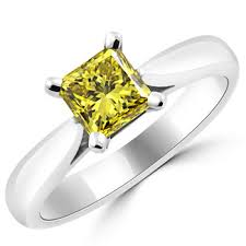 canary yellow engagement rings 1 05ct vs1 canary yellow solitaire ring 18k gold