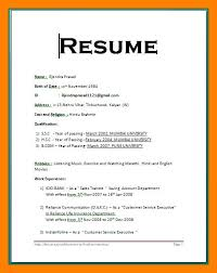 how to email resume in ms word format 6 simple resume format for