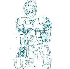 american football sketch by happydorkgirl on deviantart