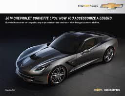 c7 corvette accessories 2014 corvette c7 stingray official accessories list gm authority