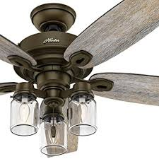 hunter 52 inch ceiling fan with light ceiling fan with clear glass light developerpanda