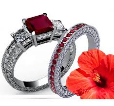 stone set rings images 4 5 carat diamonds ruby bridal set princess cut classic 3 stone jpeg