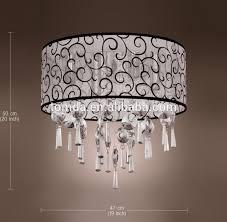 lustres pour chambre élégant transparent lustre en cristal avec 4 lumières tambour