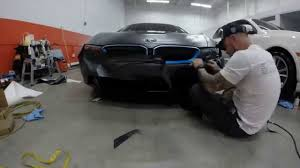 Bmw I8 Wrapped - excell auto group 2014 bmw i8 custom vinyl wrap youtube