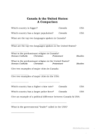 compare and contrast thanksgiving 20 free esl canadian worksheets