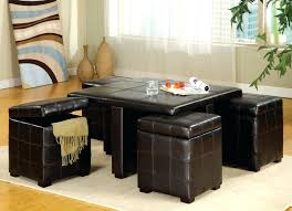 Leather Ottoman Cocktail Table Awesome Square Large Leather Ottoman Coffee Table Storage Ottoman