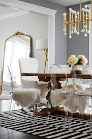 glamorous dining room ideas golden steel frame blue dining chair