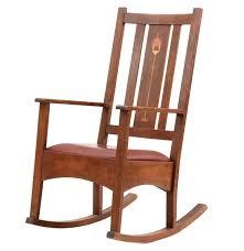 Mission Oak Rocking Chair Stickley Mission Rocking Chair Ebth
