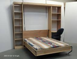 full panel bed desk and side cabinet wallbeds by bergman