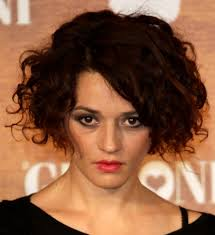 short curly haircuts medium length curly hair styles 2017