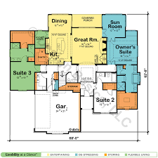 dual master suite home plans tucker terrace 50039 country home plan at design basics