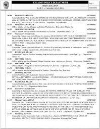 escalon police log for 06 29 16 u2013 07 11 16 u2013 weescalon