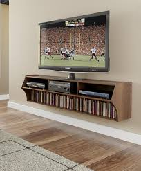 Led Tv Wall Mount With Shelves Furniture Curvy Brown Wooden Floating Tv Cabinets With Shelf And