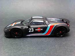 martini porsche 918 porsche 918 spyder martini prototype n 23 black 1 43 spark
