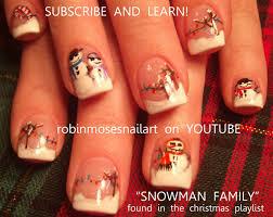 robin moses nail art snowman nail art snow man nails pink and