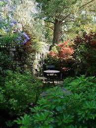 cozy garden sitting area houzz
