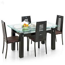 Glass Dining Table 6 Chairs Chair Marvelous Black Dining Table And 4 Chairs For Interior