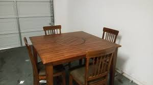 other dining table with 4 chairs and spinning lazy susan middle