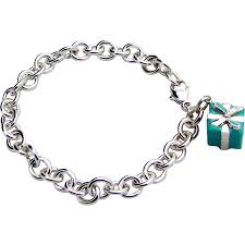 bracelet silver sterling tiffany images Tiffany co sterling silver blue box charm bracelet retired sold jpg
