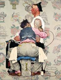 norman rockwell s reference photos for his iconic paintings