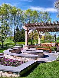 Cing Firepit Lake Forest Residence Landscape Design Traditional Landscape