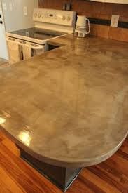 How To Build A Concrete Bar Top Diy Feather Finish Concrete Countertops Concrete Countertops