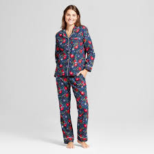 s navy birds 2pc pajama set wondershop target
