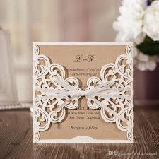 personalized wedding invitations new 2017 personalized wedding invitation cards ivory flora laser