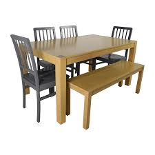 Wooden Dining Table Furniture 48 Off Wooden Dinner Set With Bench Seat Tables