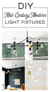 diy modern light fixtures mountainmodernlife com