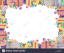 colorful ribbon colorful ribbon gift box border white paper background in vector