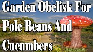 garden obelisk build for pole beans cucumbers and peas jan 20