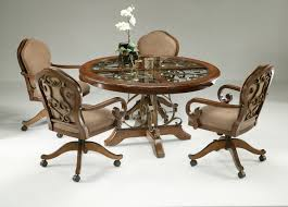 inspirations chairs with rollers with wrought iron dining chairs