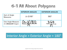 Interior Exterior Angles Showme Interior And Exterior Angles In Ploygons