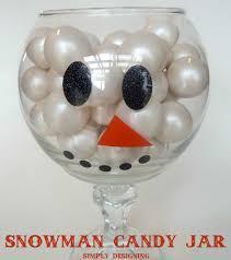diy snowman candy jar youtube