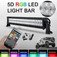 Atv Light Bar 5d 22 Inch Rgb Off Road Led Light Bar Cree Led 120w 60 Degree