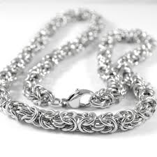 byzantine chain necklace images Buy gokadima 55cm long stainless steel byzantine jpg