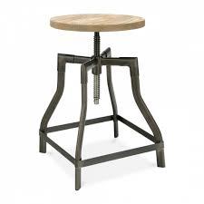 si e pivotant tabouret pivotant machinist gris acier avec siège en bois cult uk