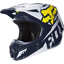 cool motocross gear fox racing v1 race se offroad helmet white yellow available at