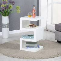 High Gloss Side Table Trio Modern Side Table In White High Gloss 27811 Furniture