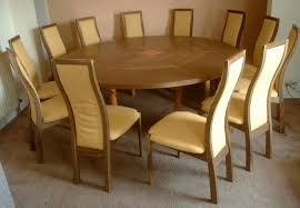 12 Seater Oak Dining Table 12 Seater Expanding Circular Dining Table