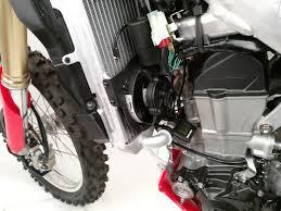 trail tech digital radiator fan cooling kit for honda crf 450 r rx
