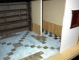 in miniature floors working with wood veneer vinyl tile