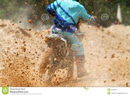 motocross race track mud debris from a motocross race stock photo image 53600997