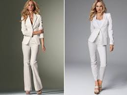 fashion trends wide leg white dress pants for women with long