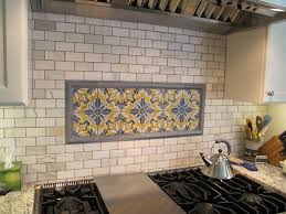backsplash for white kitchen natural stone material brick pattern